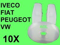 10 X SCREW NUT WHITE 6,9X6,9X9,6mm KARSAN, IVECO FIAT PEUGEOT VW